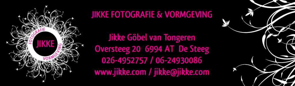 Jikke banner met adres