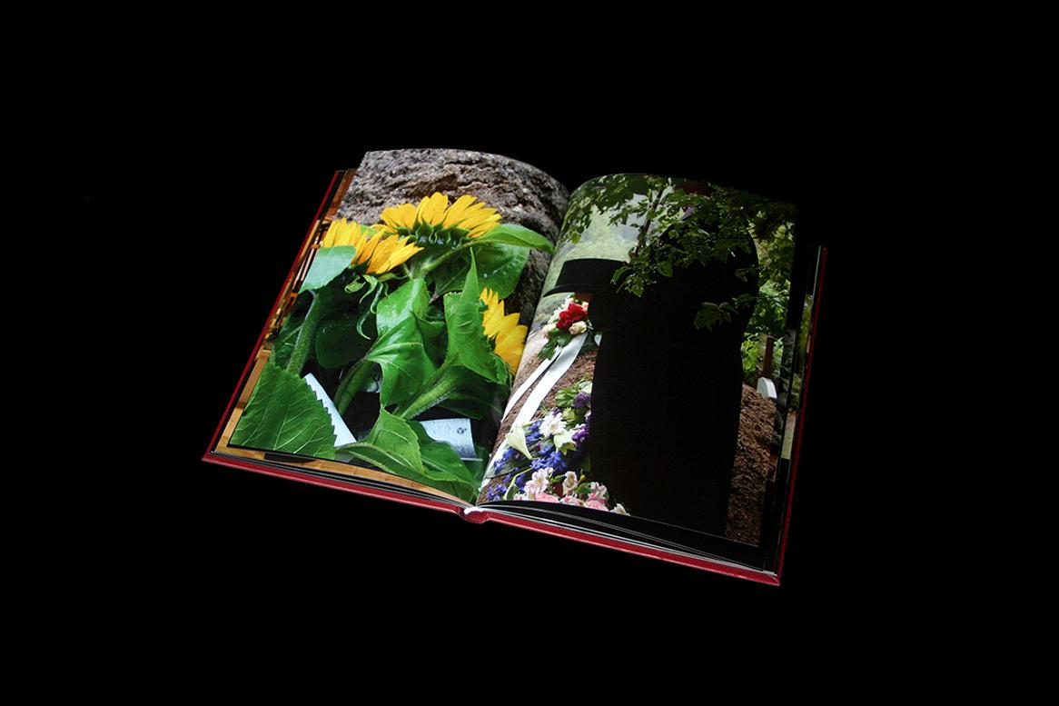 Herinneringsboek spread, harde kaft